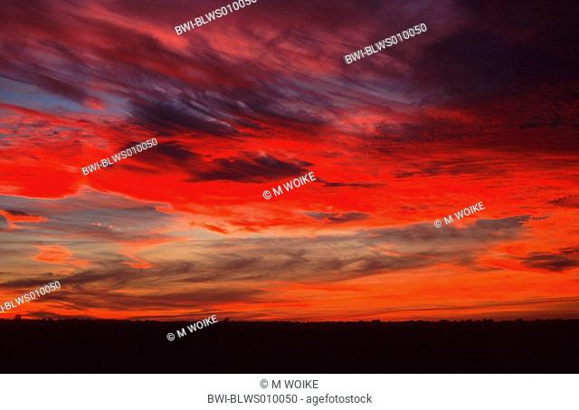 sky in the evening, France, Camargue