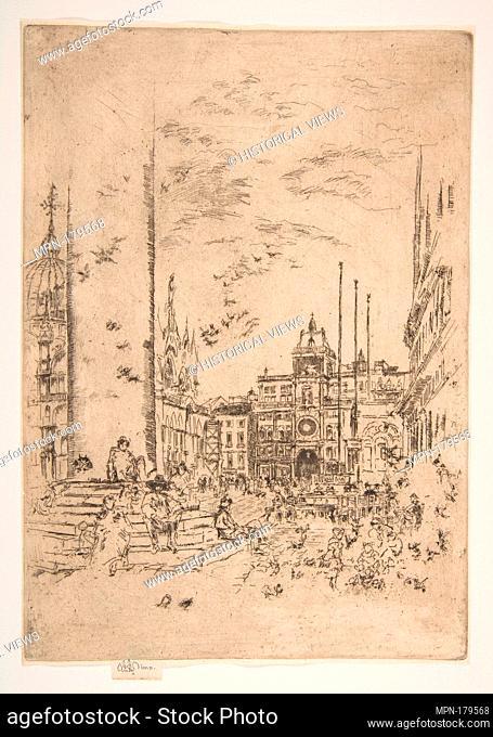 The Piazetta (The Piazzetta). Series/Portfolio: First Venice Set (Venice: Twelve Etchings, 1880); Artist: James McNeill Whistler (American, Lowell