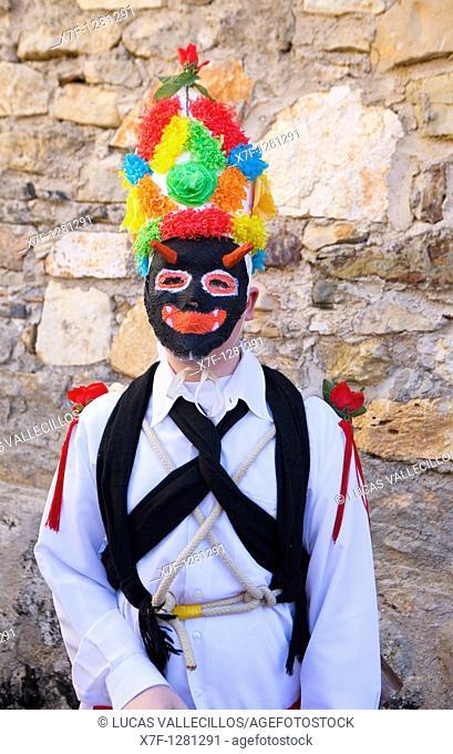 Botarga  Carnival, Almiruete  Tamajon, Guadalajara province, Castilla-La Mancha, Spain