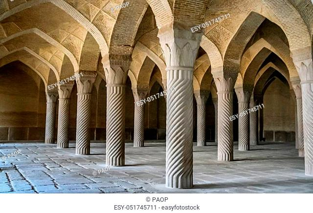 Beautiful and impressive Vakil mosque in Shiraz, Iran