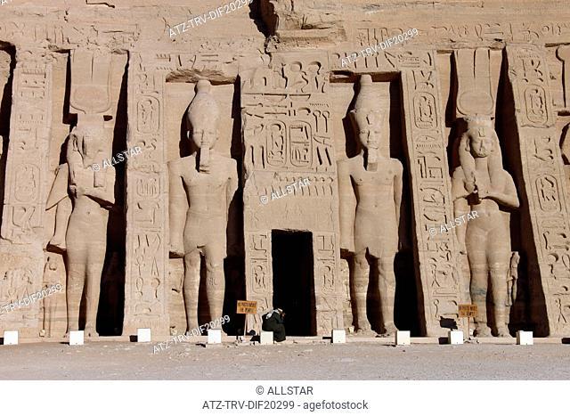 THE SMALL TEMPLE OF HATHOR & NEFERTARI; ABU SIMBEL, NUBIA, EGYPT; 11/01/2013