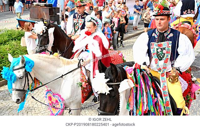 Members of a variety of folk groups and tradition lovers took part in an international folklore festival entitled Slovacky rok in Kyjov, South Moravia