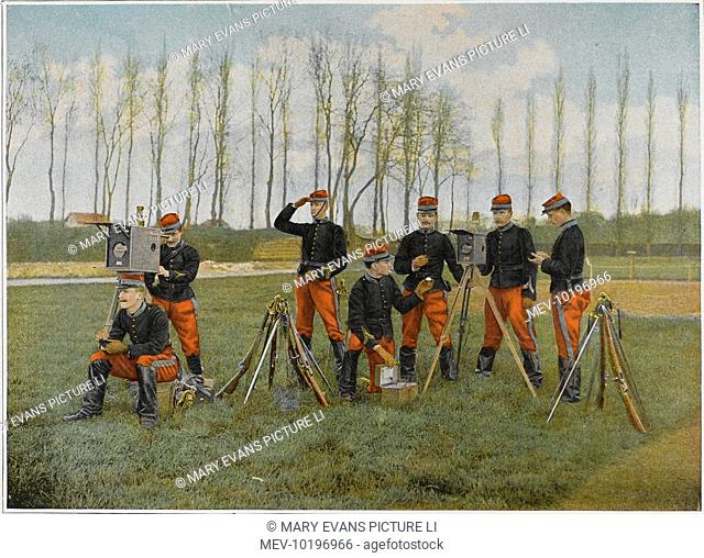 Optical telegraph used by cadets at the French military academy of Saint-Cyr