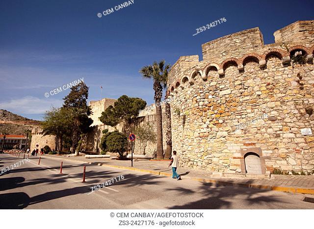 View of Cesme castle, Izmir, Turkey, Europe