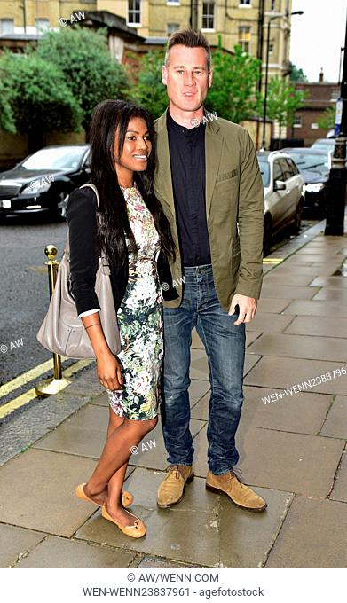 Arrivals for the book launch of the Wristband Diaries by Lady Victoria Hervey Featuring: Tim Vincent, Guest Where: London