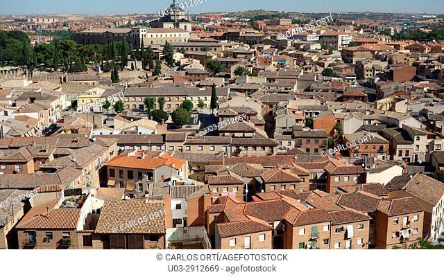 General view of the town of Toledo, Castilla la Mancha autonomous region, Spain, Europe