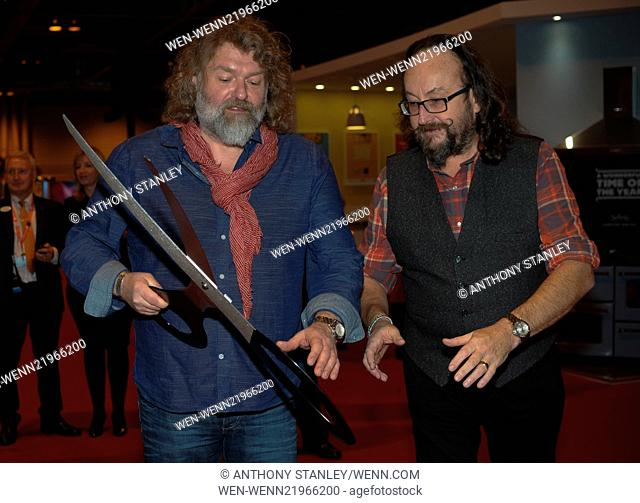 'The Hairy Bikers,' Simon King and David Myers open the 'BBC Good Food Show Winter 2014' at NEC Birmingham Featuring: Simon King, David Myers