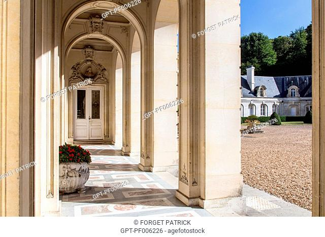 THE ARCHES OPENING ON TO THE MAIN COURTYARD, CHATEAU DE BIZY, VERNON (27), FRANCE