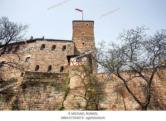 The imperial castle of Nuremberg, Bavaria, Germany