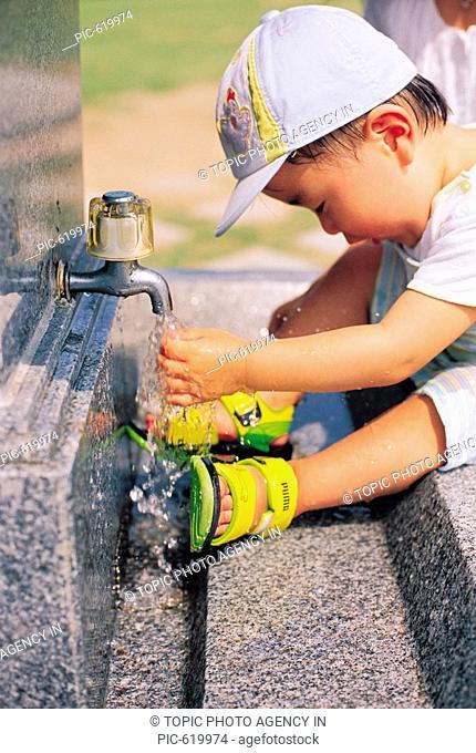 Boy Washing his Hands, Korea