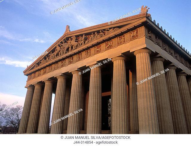 Replica of the Greek Parthenon, Nashville, Tennessee, USA