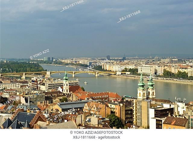 Hungary, Budapest, view from Fishermen's bastion
