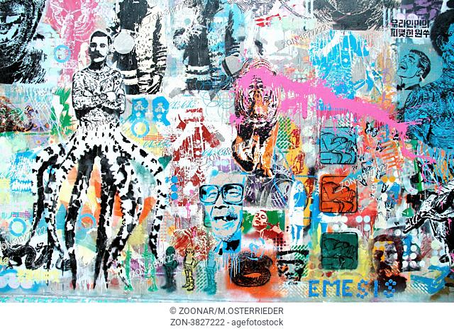 Graffiti on a wall in Palermo, Buenos Aires. The area is widely known and famous for its widespread street art