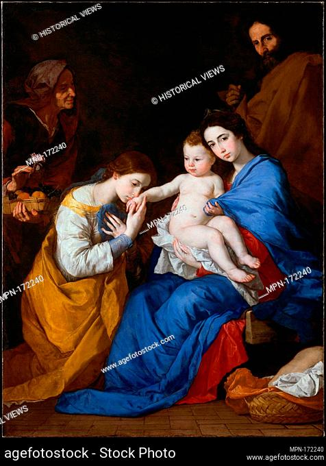 The Holy Family with Saints Anne and Catherine of Alexandria. Artist: Jusepe de Ribera (called Lo Spagnoletto) (Spanish, Jótiva 1591-1652 Naples); Date: 1648;...