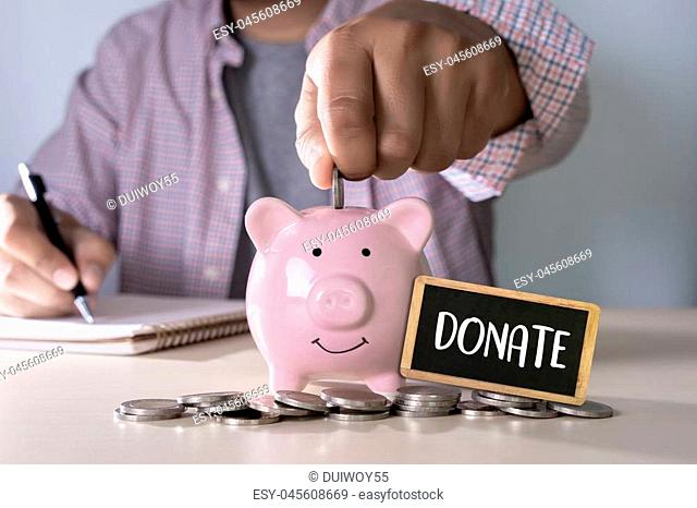 DONATE concept giving and donation Charity Give Help