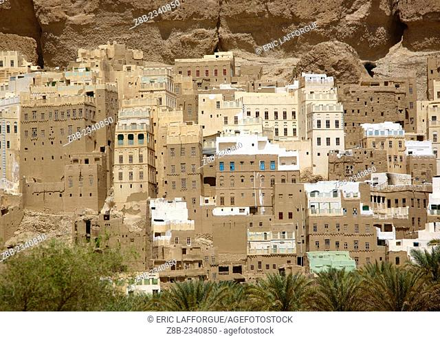 View Of The Typical Buildings At The Bottom Of The Mountains, Shibam, Yemen