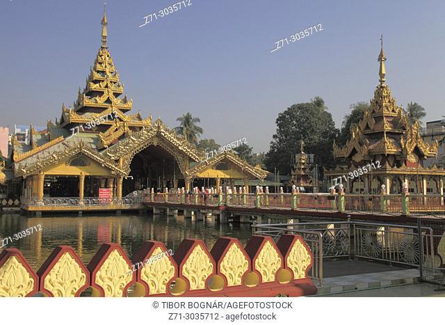 Myanmar, Yangon, Kyaye Thune, Bronze Buddha,