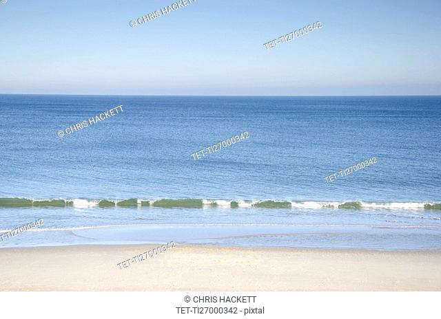 Massachusetts, Orleans, Nauset Beach and sea