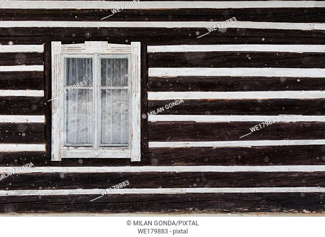 Windows of a traditional house in Jasenovo village, northern Slovakia