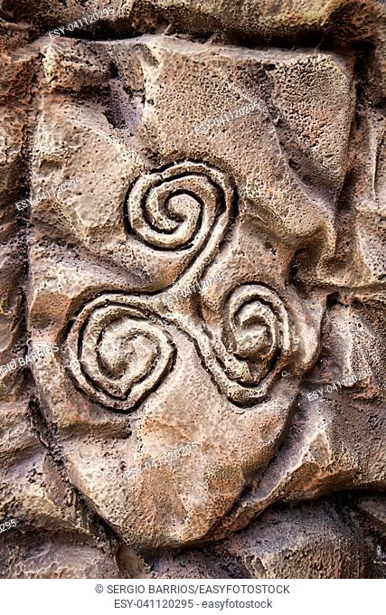 Ancient Celtic symbol, detail of Viking history