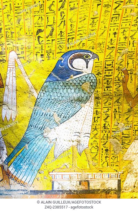 UNESCO World Heritage, Thebes in Egypt, Deir el Medineh, tomb of Irynefer. In order to revive, The Dead wants to transform into several forms
