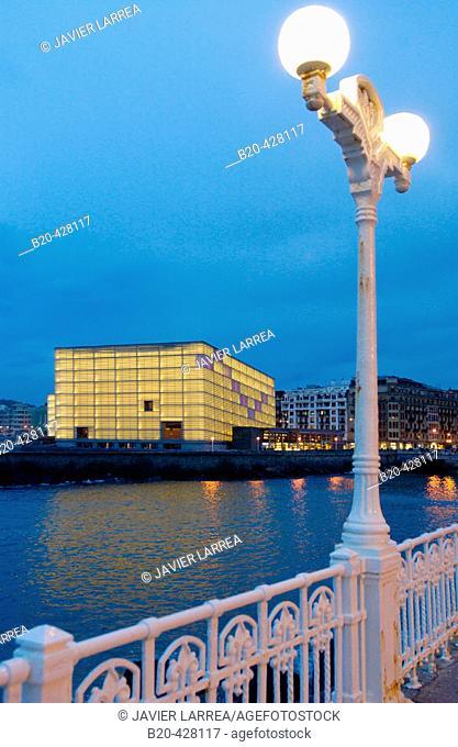 Paseo Salamanca. Kursaal Convention Center building. Urumea river mouth. Donostia, San Sebastian. Euskadi. Spain