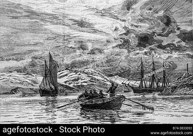 the sinking of the eira, the illustrated universe 1882, publisher new bookstore