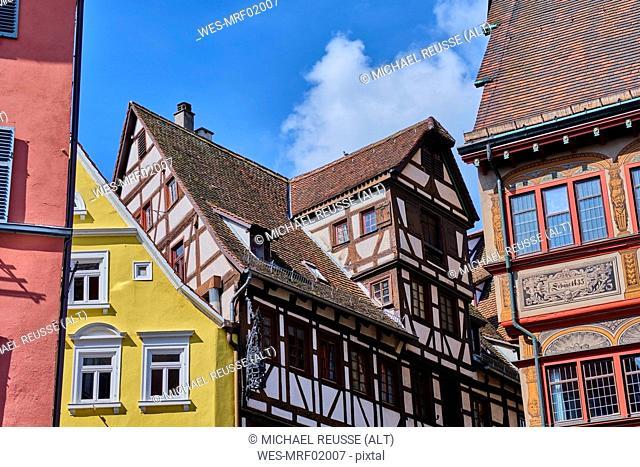 Houses in the old town, Tuebingen, Baden-Wuerttemberg, Germany