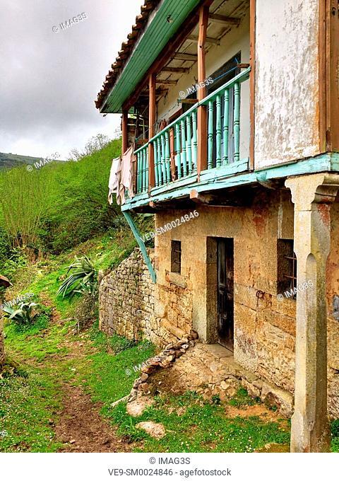 San Adriano del Monte abandoned village, Grado municipality, Asturias, Spain