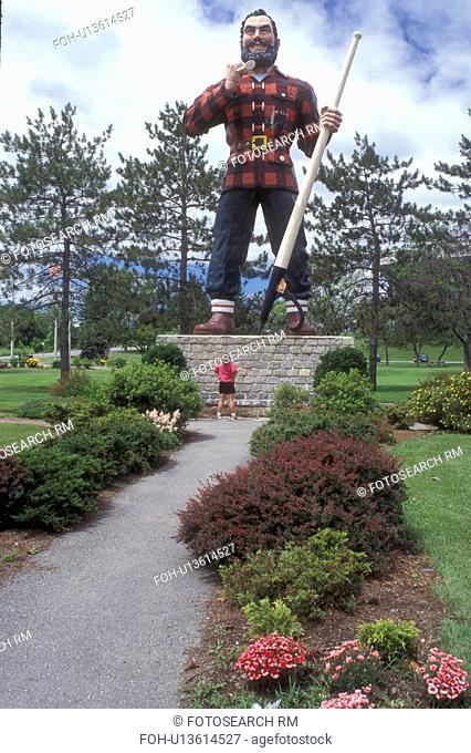 Bangor, Maine, Paul Bunyan, A woman stands below the giant statue of Paul Bunyan in a park in Bangor