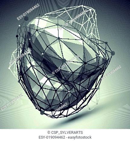 Abstract deformed vector undertone