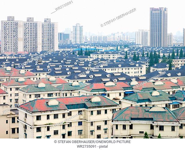 China, Shanghai, residential buildings