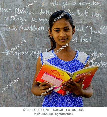 Student at rural school, Rajasthan