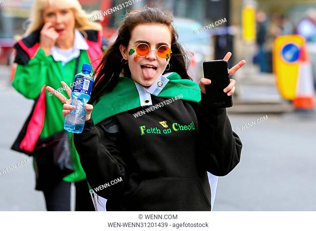 A colourful procession of Irish marching bands, energetic dance troupes and spectacular pageantry entertained huge crowds from Green Park down Piccadilly and to...