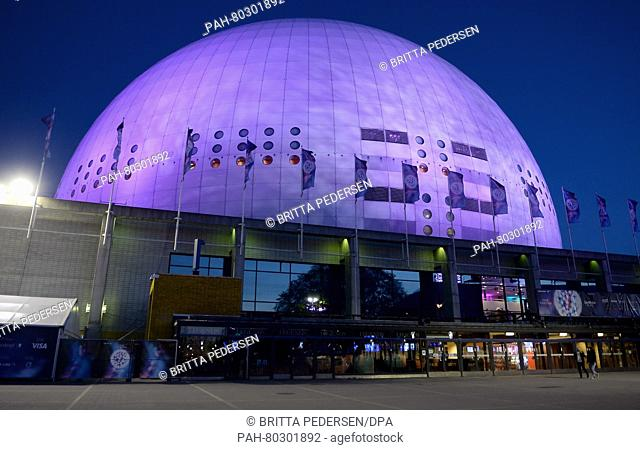 The Ericsson Globe Arena in Stockholm, Sweden, 11 May 2016 on the occasion of the 61st annual Eurovision Song Contest (ESC)