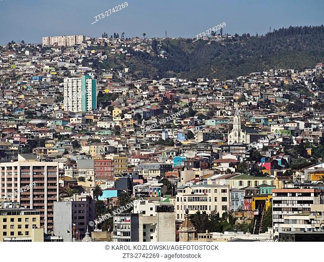 Chile, Cityscape of Valparaiso