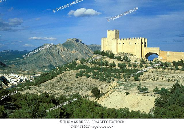 The outstanding Renaissance castle and the village of Vélez Blanco. The castle was built in the early sixteenth century by the Marquises of Vélez Blanco