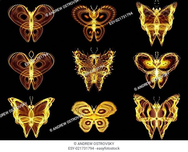 Collection of Fractal Butterflies