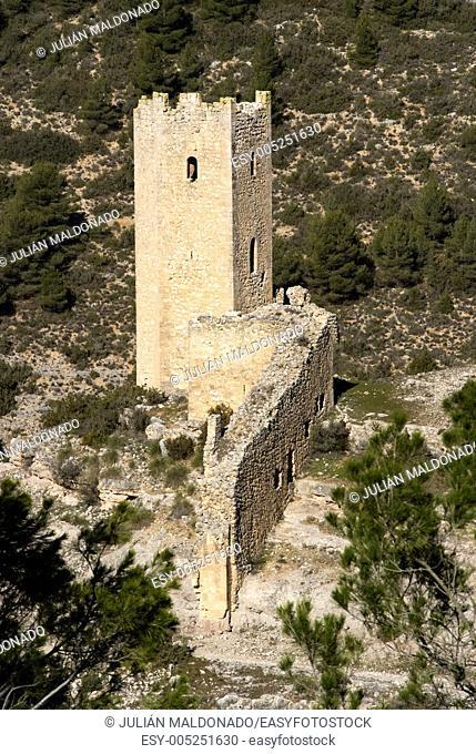 Watchtowers in Alarcón, Cuenca, Castilla La Mancha, Spain
