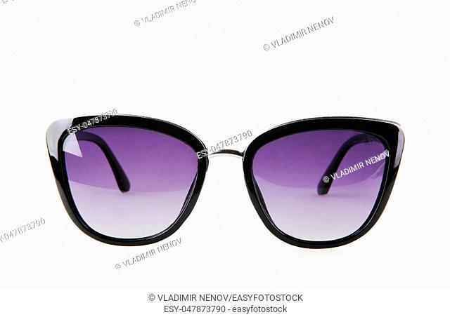Stylish Sunglasses Against White Background