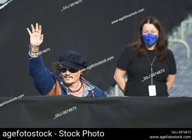 Johnny Depp attended 'Donostia Award' Photocall during 69th San Sebastian International Film Festival at Kursaal Palace on September 22