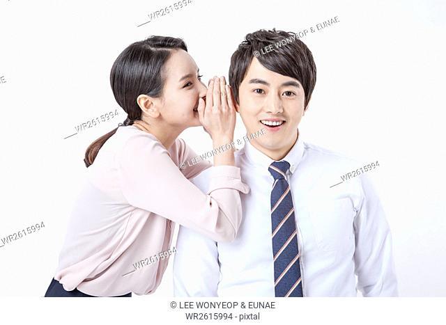 Loving working couple
