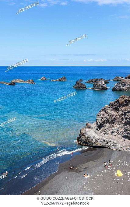 Canary Islands (Spain), La Palma. Zamora Bay, near Fuencaliente