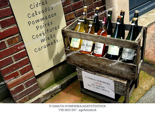 local products on sale, Honfleur, Calvados, Normandy, France