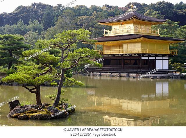 Kinkakuji Temple, The Golden Pavilion, Rokuon-ji temple, Kyoto, Japan