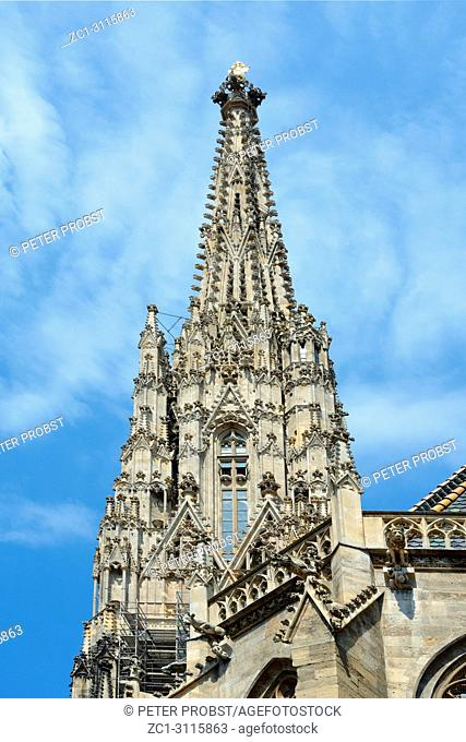 Tower of St. Stephen's Cathedral in the center of Vienna - Austria