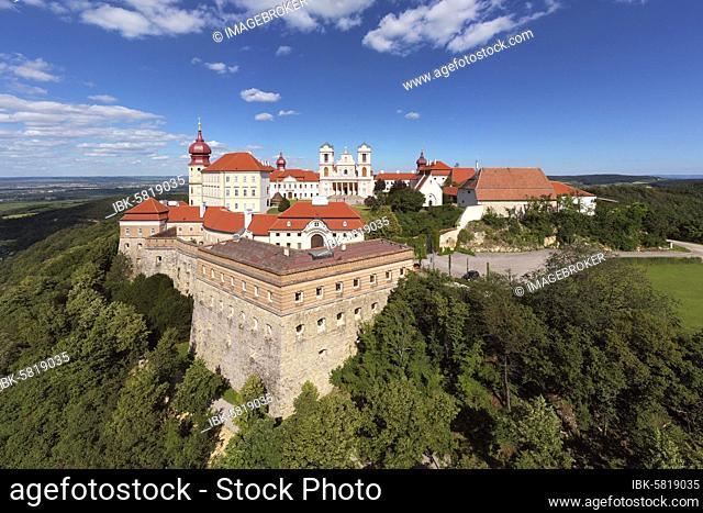 Fortifications, Göttweik Abbey, formerly Köttwein, monastery, Benedictine Abbey, UNESCO World Heritage Site, community of Furth, near Krems, Wachau