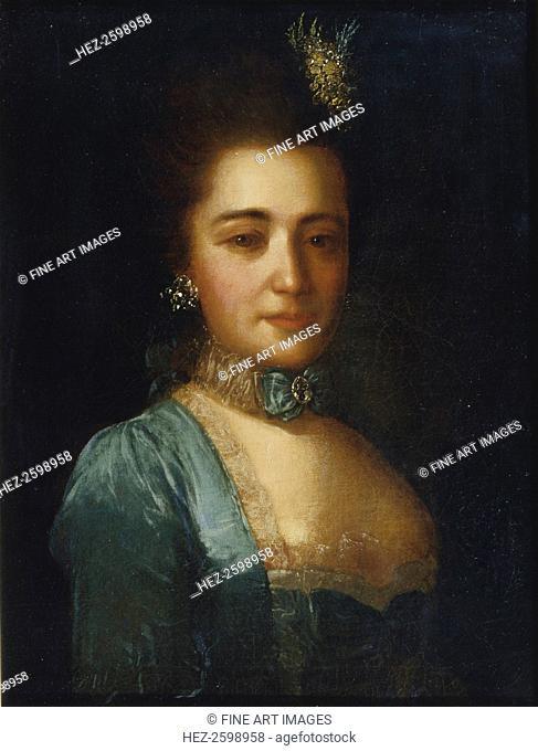 Portrait of Princess Praskovya Ivanovna Golitsyna. Found in the collection of the Regional Art Gallery, Tver