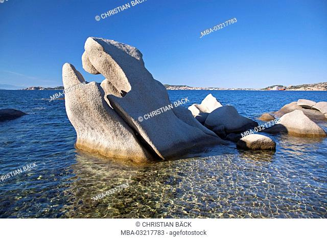 Rocks on the beach of Palau, Sardinia, Italy