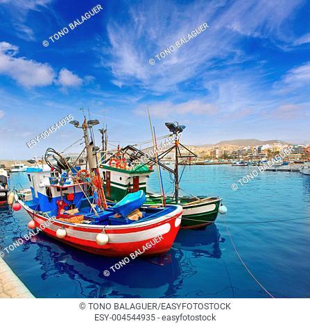 Arguineguin Puerto port in Mogan Gran Canaria of Canary Islands